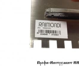Шпатель с прямым зубом 280х120 мм 12х12 RAIMONDI