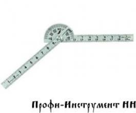 Угломер Shinwa  D40мм*100*100 мм, c двумя линейками