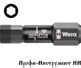 Бита ударная шестигранник SW 6x25 мм Wera, Импактор, 840/1 IMP DC