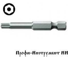 Бита шестигранник с отверстием SW 6,0/89 мм Wera, 840/4 Z BO