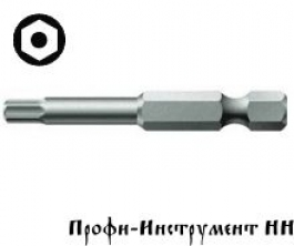 Бита шестигранник с отверстием 4x152 мм Wera, 840/4 Z Hex-Plus