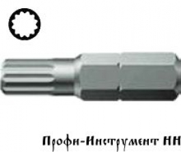 Бита 12 гранная M 6/25 мм Wera, серия 860/1 XZN