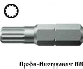 Бита 12 гранная M 10/25 мм Wera, серия 860/1 XZN
