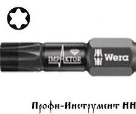 Бита ударная Torx TX 40x25мм Wera, Импактор 867/1  IMP DC