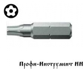 Бита пятилучевая с отверстием  873/1 Five Lobe 10x25 мм Wera