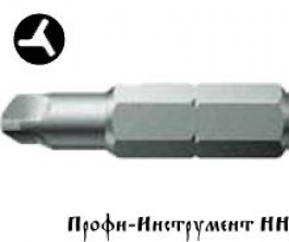 Бита три винта 0/25 мм Wera, серия 875/4 TRI-WING