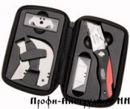 Набор раскладных ножей, 19 лезвий, сумка ERDI