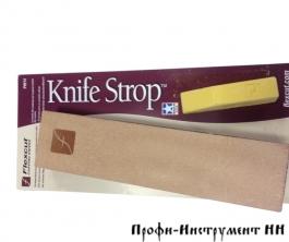 Набор полировальный Flexcut Knifestrop, кожа для заточки  + хон.паста, набор