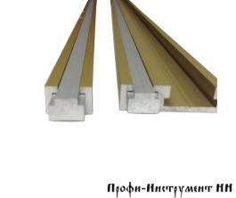 Профиль ползуна алюминиевый Т-образный 13 мм, анод., серебро матовое, 0,75 м Woodwork TR013.750