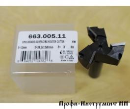 Фреза фуговальная со сменными ножами HM Z3 D=38x12x60 RH S=12 RH CMT 663.005.11