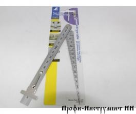 Линейка конусная, Shinwa, для определения диаметров отверстий от 0 до 15мм, с линейкой 150мм
