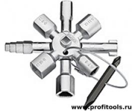 Ключ TwinKey для распространенных шкафов и систем запирания KNIPEX 00 11 01