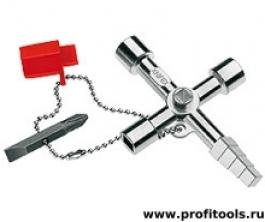Ключ для электрошкафов профессиональный для распространенных систем блокировки KNIPEX 00 11 04