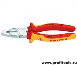 Плоскогубцы комбинированные хром-ванадиевые KNIPEX 01 06 190