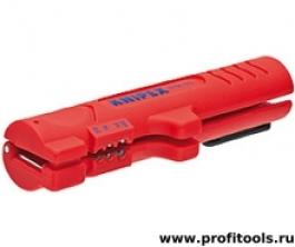 Инструмент для снятия оболочки с плоского и круглого кабеля KNIPEX 16 64 125 SB