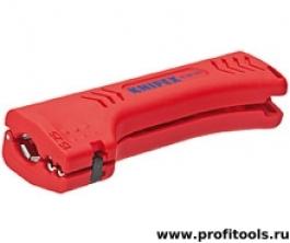 Универсальный инструмент для снятия оболочки с кабеля домовой и промышленной сети KNIPEX 16 90 130 SB