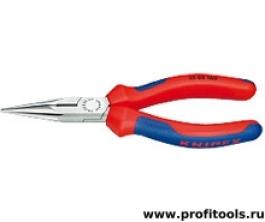 Круглогубцы с плоскими губками и режушими кромками KNIPEX 25 02 140