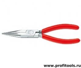 Круглогубцы с плоскими губками и режушими кромками KNIPEX 25 03 125