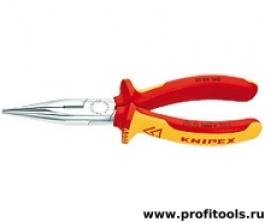 Круглогубцы с плоскими губками и режушими кромками KNIPEX 25 06 160