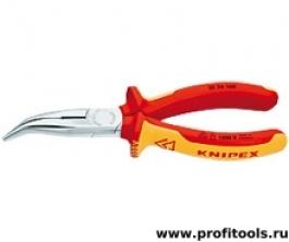 Круглогубцы с плоскими губками и режушими кромками KNIPEX 25 26 160