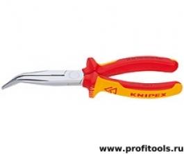 Круглогубцы с плоскими губками с режущими кромками KNIPEX 26 26 200