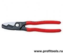Ножницы для резки кабелей с двойными режущими кромками (кабелерез) KNIPEX 95 11 200