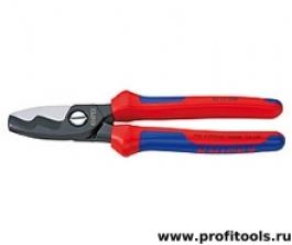 Ножницы для резки кабелей с двойными режущими кромками (кабелерез) KNIPEX 95 12 200