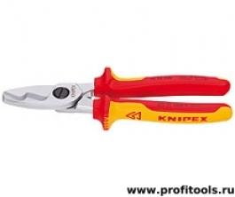 Ножницы для резки кабелей с двойными режущими кромками (кабелерез) KNIPEX 95 16 200