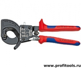 Резак для кабелей (по принципу трещоточного ключа) KNIPEX 95 31 250