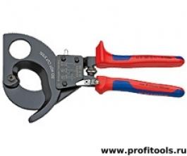 Резак для кабелей (по принципу трещоточного ключа) KNIPEX 95 31 280