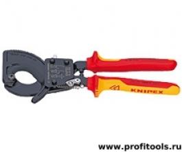 Резак для кабелей (по принципу трещоточного ключа) KNIPEX 95 36 250