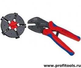 Обжимные клещи с магазином для смены плашек MultiCrimp® KNIPEX 97 33 02