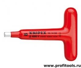 Отвертка для винтов с профилем Внутренний шестигранник с Т-образной ручкой KNIPEX 98 14 08