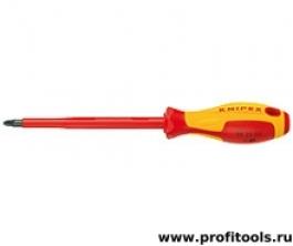 Отвертка для винтов с крестообразным шлицем Pozidriv KNIPEX 98 25 01