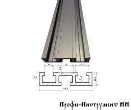 Профиль-шина 51 мм, анод., серебро матовое 1 м TR051.1000