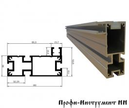 Профиль-шина 100 мм, 1 м, алюмин., анод., серебро матовое, с 2-мя накладками TR100.1000N
