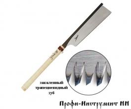Пила обушковая Shogun Dozuki Saw, 250мм, 24tpi, прямая деревянная рукоять - М00009203