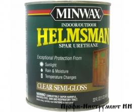 Уретановый лак Minwax HELSMAN Spar Urethane Полуглянцевый 473 мл