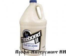Клей Titebond  II Transparent клей для дерева бесцветный 3,8л