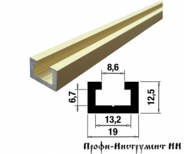 Профиль-шина 19 мм, анод, золото матовое 1 м TR019.GM.1000