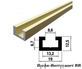 Профиль-шина 19 мм, анод, золото матовое 1,5 м TR019.GM.1500