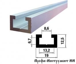 Профиль-шина 19 мм, анод., серебро матовое 1,5 метра TR019.1500